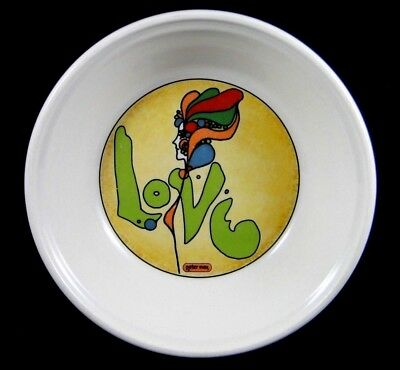 """RARE Vintage 1960's Peter Max 7"""" Love Bowl Ceramic Iroquois Psychedelic Hippie"""