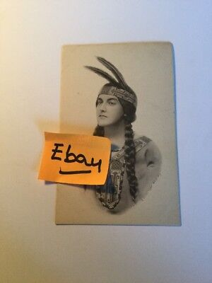 Old Postcard 1900's Indian Girl Woman Historical Rare Vintage ( # 3 )