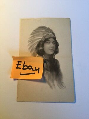 Old Postcard 1900's Indian Girl Woman Historical Rare Vintage ( # 4 )