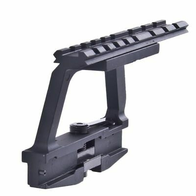 Tactical QD 20mm Rail Side Base Scope Metal Lock Mount Black For Hunting