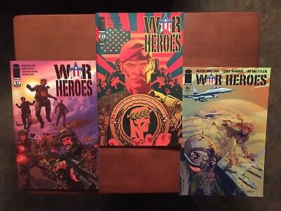 War Heroes #1-3 (2008) 9.6 NM Marvel Image Key Issue Comic Book High Grade