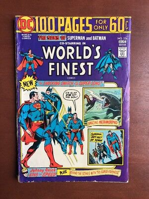 World's Finest Comics #224 (1974) 5.5 VG DC Key Issue Bronze Age Batman Superman