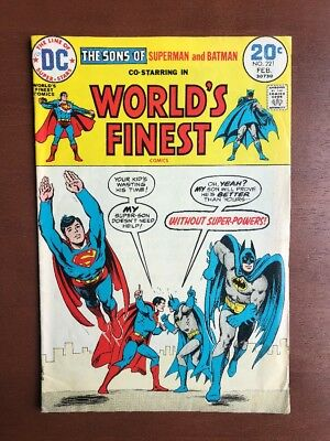 Worlds Finest Comics #221 (1974) 7.0 FN DC Key Issue Bronze Age Batman Superman