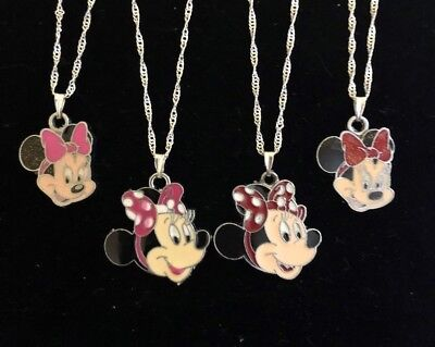 Childs Minnie Mouse Full Face Necklace 4 Styles