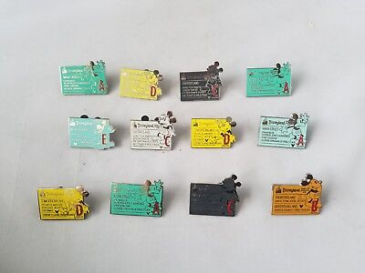 Disney Trading Pins Official Street Signs Lot of 12 Collectible Disney World