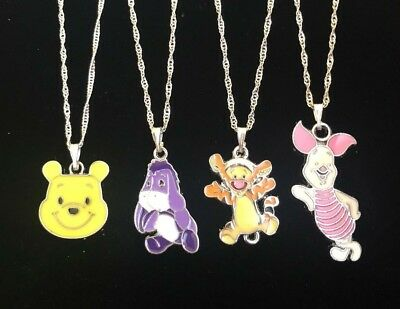 Pooh Bear & Friends Child Necklace Eeyore Piglet Tigger