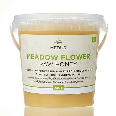 900g Meadow wildflower ORGANIC Honey 100% PURE RAW NATURAL 2019 unpasteurized