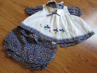 Lot of 4 BABY GIRL SIZE 6-12 MONTHS 1 PAIR JEANS 2 BODY SUITS 1 DRESS OUTFIT (T)
