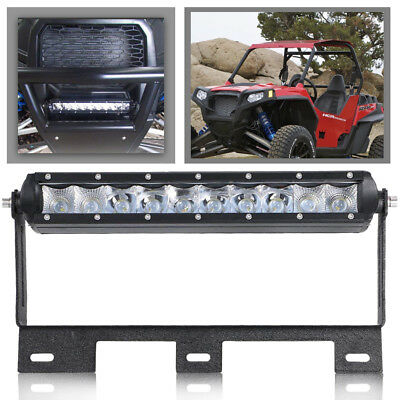 DOT SINGLE ROW 10 INCH CREE Fog LED LIGHT BAR Combo Offroad FIT Can-Am Maverick