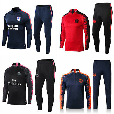 New Adult Mens Soccer Tracksuit Football Training Suit Sportswear Tops Pants