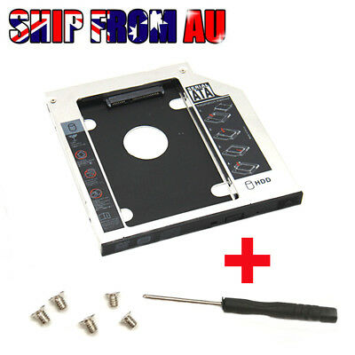 9.5mm Universal SATA 2nd HDD SSD Hard Drive Caddy for CD/DVD-ROM Optical Bay New