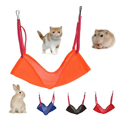 EG_ Cat Kitten Pet Breathable Mesh Hanging Cage Hammock Small Animal Bed Clever