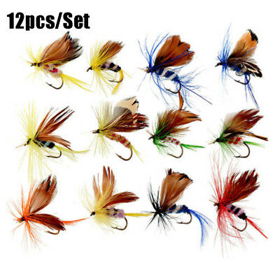 Insect Crank Treble Hooks butterfly  Moth Fly Trout Fishing Lures Flies