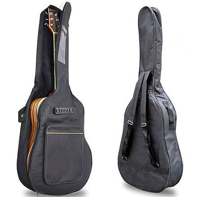 """40"""" 41"""" Acoustic Guitar Double Straps Padded Guitar Soft Case Gig Bag Backpack A"""