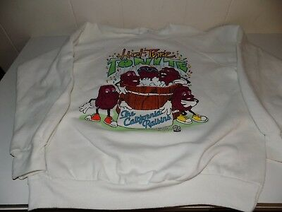 Vintage California Raisins Sweatshirt Hot Time Tonite Hot Tub XL