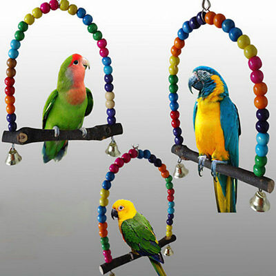 New Parrot Swing Bird Toy Nest Bed Rope Cage Pet Toys Parakeet Cockatiel Budgie