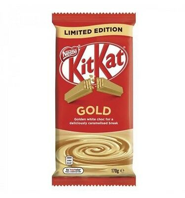 Nestle Kit Kat Milk Chocolate Gold Block 170gm x 12