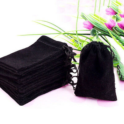 New Practical 10Pcs Black Velvet Drawstring Jewelry Gift Bags Pouches Hotsale