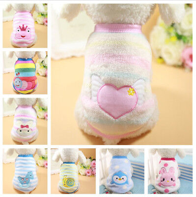 Cartoon Warm Soft Fleece Pet Puppy Cat Coats Dog Clothes for Small Dogs Clothing