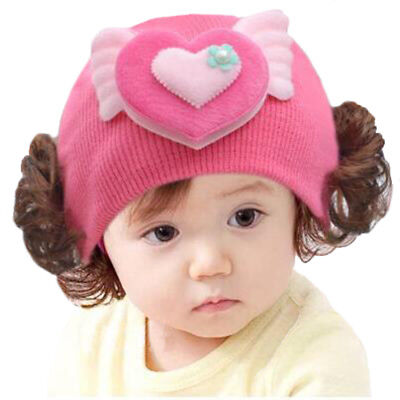 Stylish Toddlers Infant Baby Girls Headband Hair Band Wool Wig Hat Portable -AO5