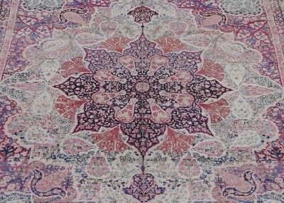 "7'10"" X 10'3""  Premium Quality Antique Kirman Hand Made 100% Wool Oriental Rug"
