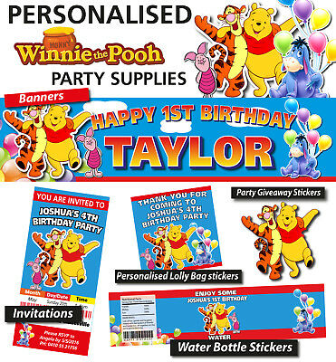 Winnie The Pooh Bear Birthday Party Banner Decorations