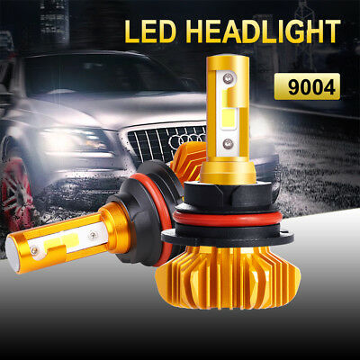 1 Pair S9 COB 9004 HB1 72W 8000LM Car Bulbs Led Headlight Hi/Lo Beam White 6000K