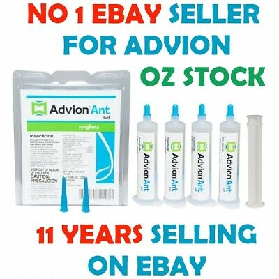 4 x 30g Genuine Advion Syngenta Ant Gel + 1 Plunger + 2 Tips