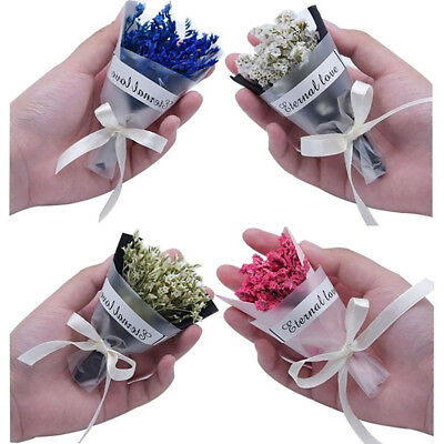 EG_ Mini Colorful Dried Flower Bouquet Wedding Home Party Decor Photo Props Exot