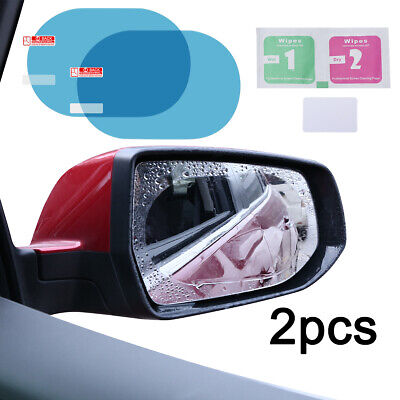 2PCS Oval  Auto Car Anti-Fog Rainproof Rearview Mirror Protective Film Accessory