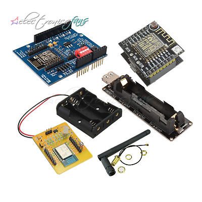 3DBI Gain Antenna ESP8266 Serial Wifi Module Extend board 18650  Shield