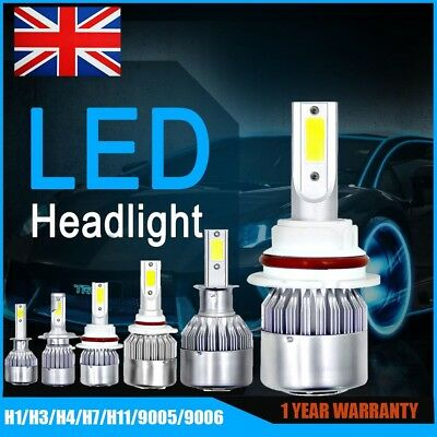 H7/H4/H11/H1/9005/9006 72W 10800LM LED Headlight Kit Car Bulb 6000k Xenon White