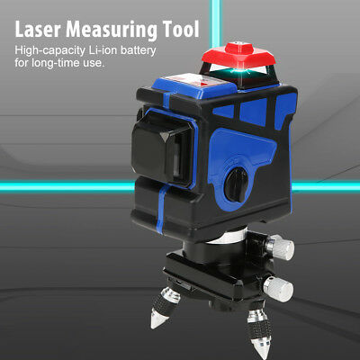Green 3D 12 Line 360° Rotary Auto-leveling Laser Level Kit 4000mAh Battery IP54