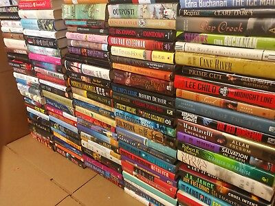 Lot of 20 Mystery Romance Literature Popular Authors HARDCOVER HB UNSORTED Books
