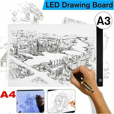 A3/A4 LED Drawing Pad Table Box Art Tattoo Stencil Board Light Tracing Dimmable