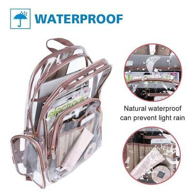 Young Fashion Waterproof School Backpack Transparent Bag Jelly Bag Clear Bag AW