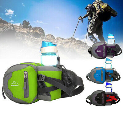 Unisex Outdoor Waist Bag Sports Hiking Fanny Pack with Water Bottle Holder Hot