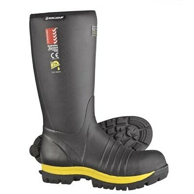 Skellerup Wellingtons Insulated Quatro Wellie Size 8,9,10,11,12,14 (Ch)