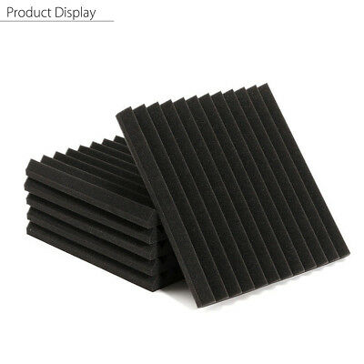 1-12X Acoustic Wedge Foam Panel Charcoal Soundproofing Treatment 2.5x30x30cm