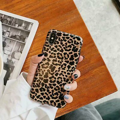 Leopard TPU Rubber Case for iPhone XS Max XR Xs 6 7 8 Plus Huawei Shockproof