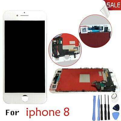 For iPhone 8 White LCD Display Digitizer Assembly Glass Touch Screen Repair