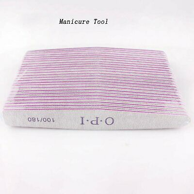 1-20pcs OPI ACRYLIC NAIL FILES 100/180 Grit Nail File Manicure Tools Top Quality