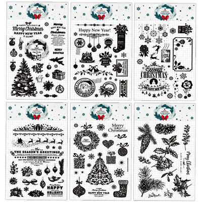 Merry Christmas Clear Silicone Rubber Stamps Scrapbooking DIY Paper Craft