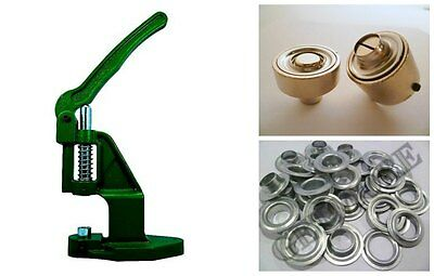 Eyelets Press +250 10mm Steel Zinc Plated + Tools according to Din 7332 Punch