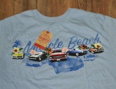 0a5f9ba7 Muscle Beach Cars T-Shirt Cotton Links Vintage Outdoor Apparel Big & Tall  Tee