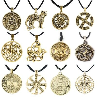 Men Necklace Norse Valknut Viking Cross Nordic Pendant Fashion Jewelry Gifts