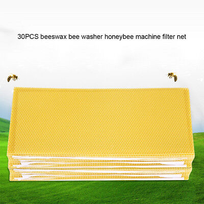 30PCS/Set Beekeeping Nest Box Foundation Beeswax Honeycomb Sheets Beekeeper Tool