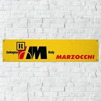 Marzocchi Banner Motorcycle Garage Workshop PVC Sign Suspension Display YELLOW