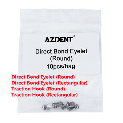 4Models Orthodontic Direct Bond Eyelet /Traction Hook Round Base Lingual Buttons