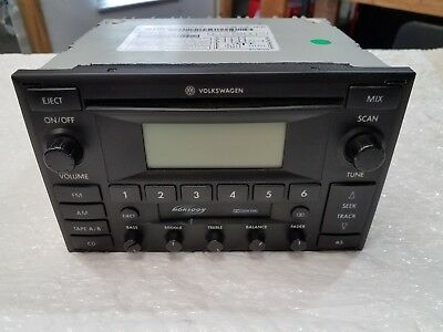 2002-2004 VW VOLKSWAGEN MK4 JETTA GTI Monsoon AM-FM-CASSETTE RADIO CD CHANGER